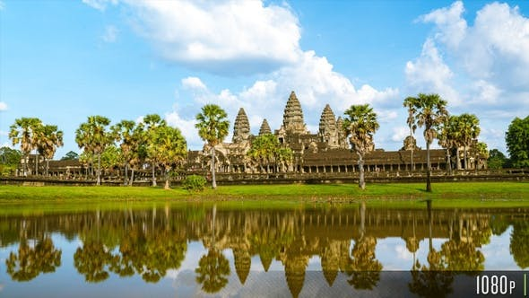 Thumbnail for Angkor Wat Time Lapse with Lake Reflection in Siem Reap, Cambodia