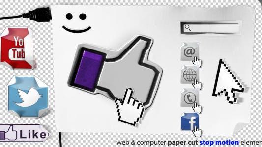 Thumbnail for Stop Motion Web Paper Cut Elements