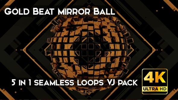 Cover Image for Gold Beat Mirror Ball VJ Loops