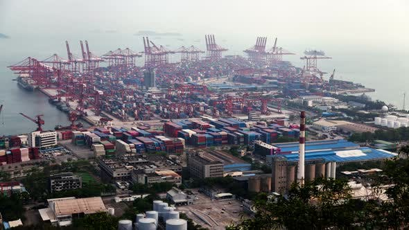 Thumbnail for Timelapse Port of Shenzhen with Modern Container Terminal