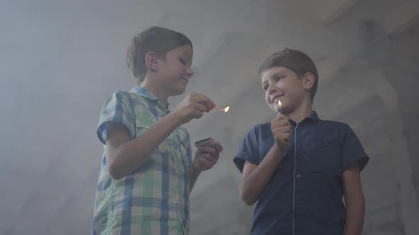 Thumbnail for One Boy with a Burning Match, the Second with a Burning Lighter