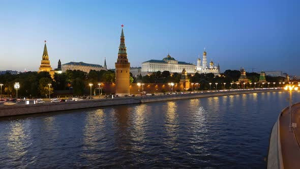 Thumbnail for Night Time Lapse of Moscow Kremlin