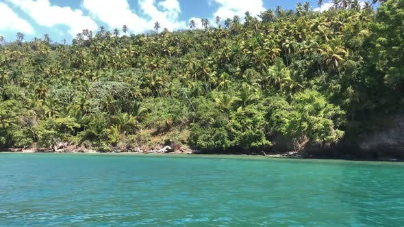 Thumbnail for View from the boat on the Samana Peninsula in the Dominican Republic