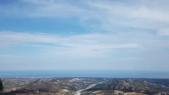 Aerial view from Tre Pizzi Mount in Calabria, Italy.