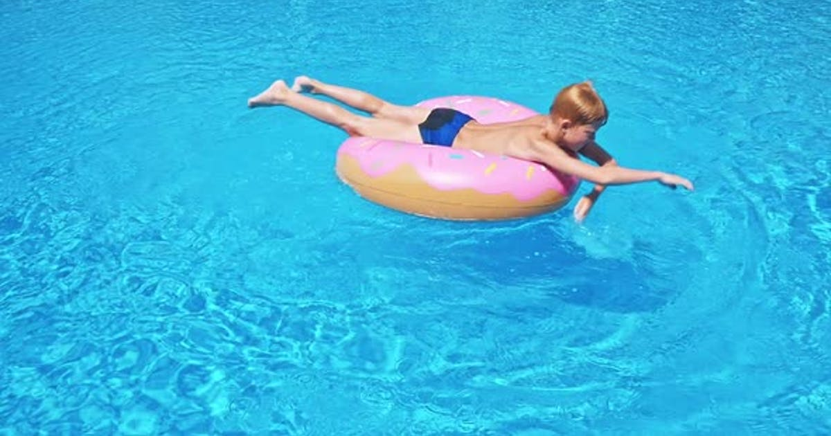 Happy Child in Swimming Pool