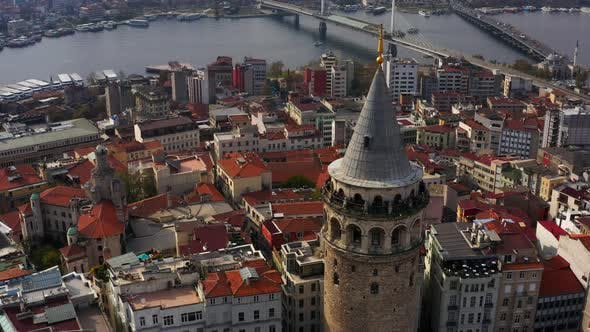 Cover Image for Golden Horn And Galata Tower Aerial View 3