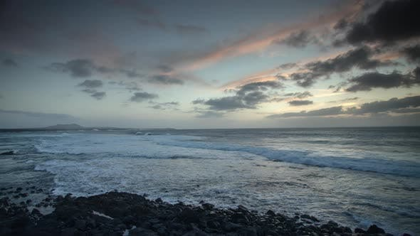 Timelapse Sunset over the Sea, Lanzarote