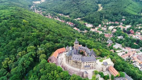 Thumbnail for Aerial view of famous Castle in Vernirgerode Germany