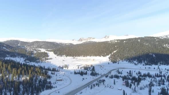Thumbnail for Aerial Winter Landscape in Park Ergaki