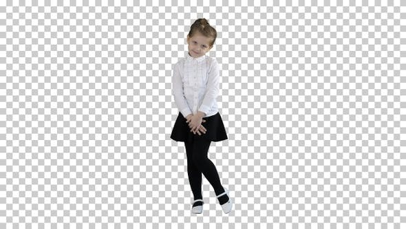 Thumbnail for Little Girl Posing in Different Poses, Alpha Channel