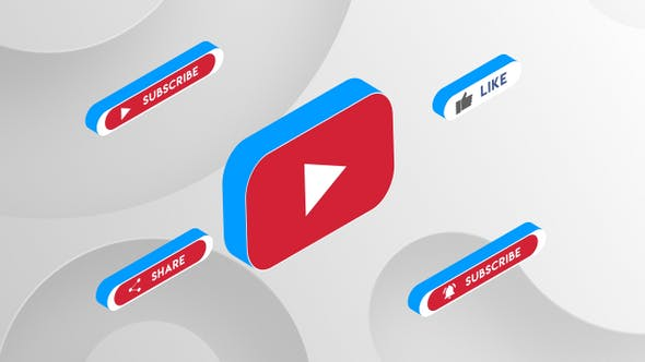 Thumbnail for YouTube Subscribe Button 3D