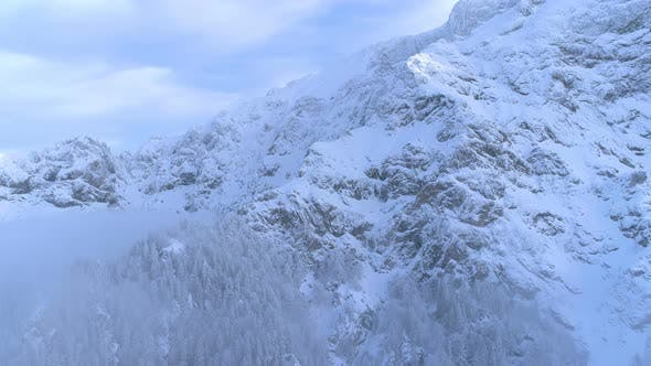 Thumbnail for Winter landscape with forests and snowy mountains