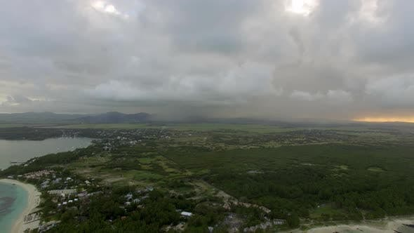 Thumbnail for Flying Over Mauritius Island with Low Clouds