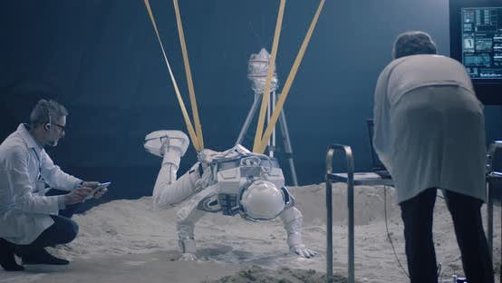 Thumbnail for Astronaut and Scientists Testing for Zero-gravity