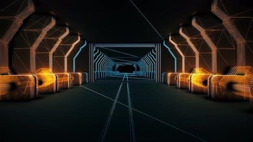Science Fiction Futuristic Corridor 4k