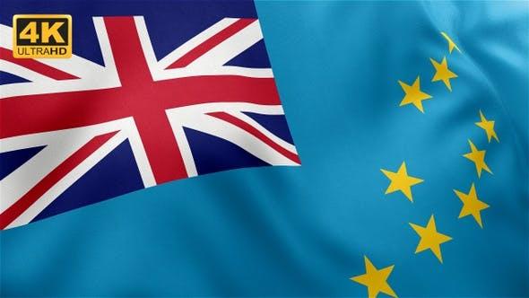 Thumbnail for Flag of Tuvalu - 4K
