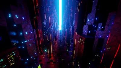 Neon Abstract Futuristic City