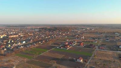 Aerial Farm Houses