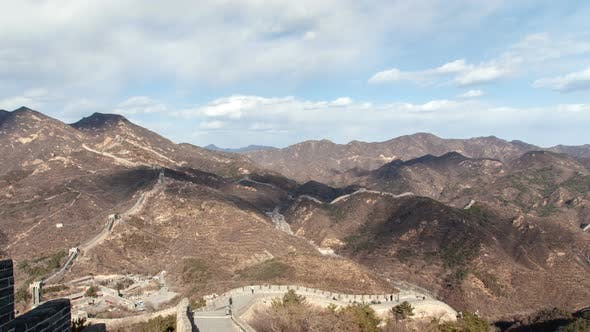 Thumbnail for People Walk Along Remarkable Chinese Great Wall Timelapse