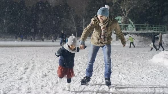Thumbnail for Having Fun with Daddy at Rink