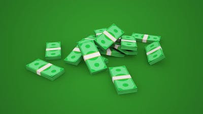 Falling Money Bills