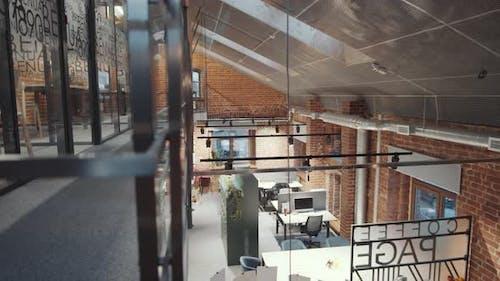Interior of Modern Loft Office Building