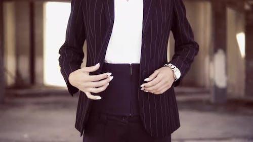Female Details Button on Blazer