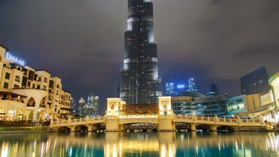 Burj Khalifa Lake Time Lapse