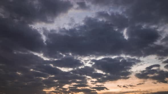 Thumbnail for Dramatic Clouds at Dawn. Beautiful Sky, Timelapse