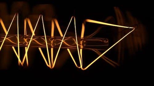 Incandescent Light Bulb - Macro Shot