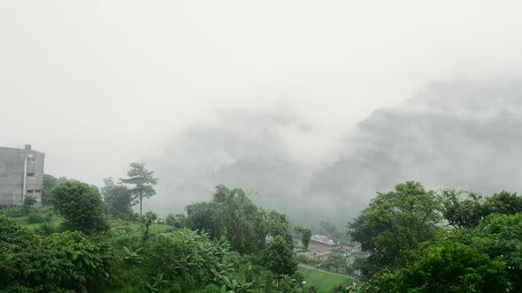 Thumbnail for Nepal s Foggy Valley and Mountains.