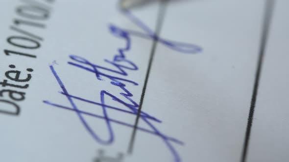 Pen Writing Signature