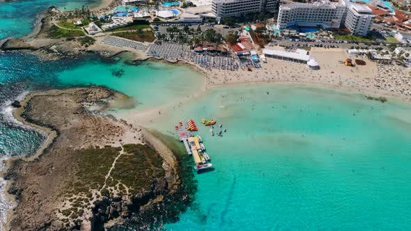 Thumbnail for Aerial View of Beautiful Nissi Beach in Ayia Napa