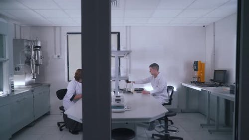 Scientists Work in a Food Laboratory