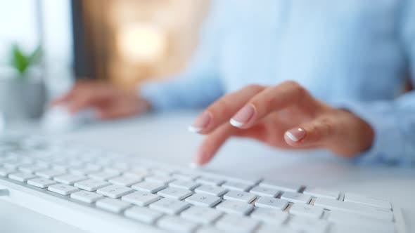 Thumbnail for Female Hands Typing Credit Card Number on Computer Keyboard. Woman Making Online Purchase. Online