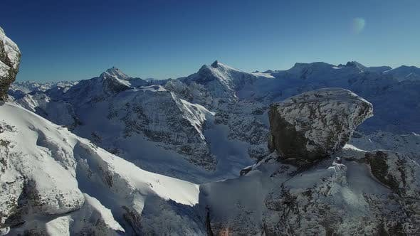Cold Ice Glacier Mountains Naure Environment in Winter Weather Season