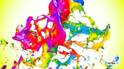 Splash Of Multicolor Paint V5