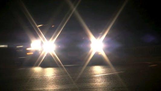 Thumbnail for Night Road Beams I - HD Loop