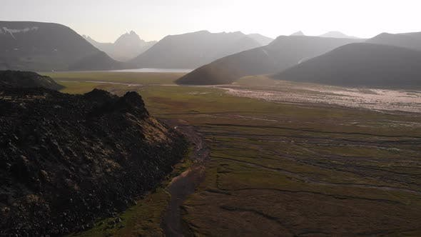Thumbnail for Kamchatka Peninsula, Volcanic View, View From the Drone, Near the Ichinsky Volcano