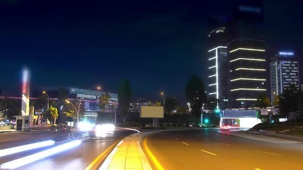 night car traffic