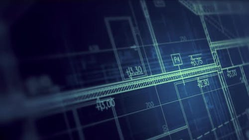 Bauplan für Wohngebäude
