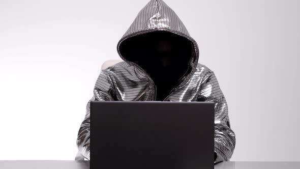 Computer Hacker Silver Jacket