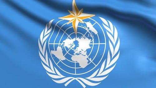 Welt-Meteorologische Organisation Flagge 4K