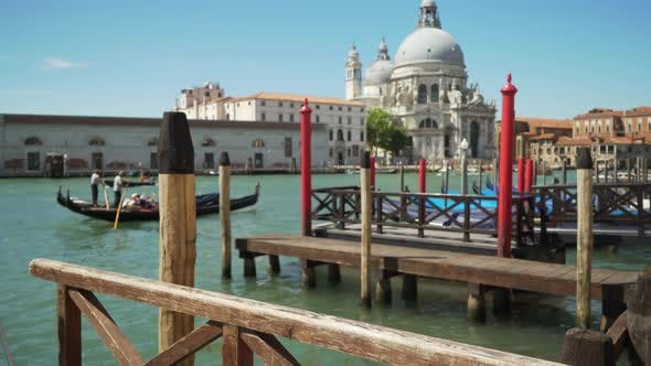 Thumbnail for Blurred background of boat dock on the Grand canal in beautiful historic Venice