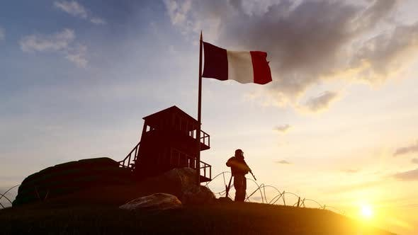 Thumbnail for French Soldier Watching the Border at Sunset