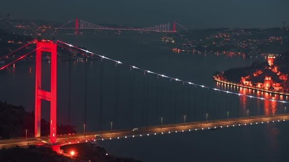 Fatih Sultan Mehmet Bridge over Bosphorus