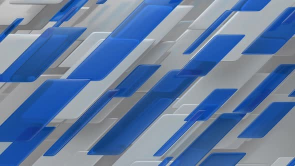 Thumbnail for Abstract Lines and Blue Glass Broadcast News Background Loop