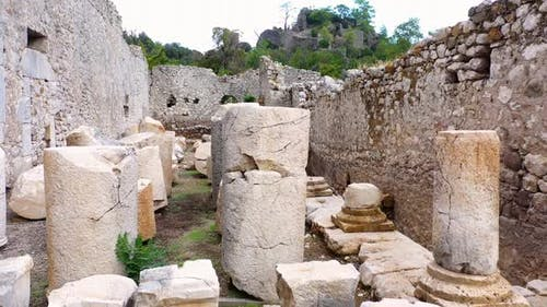 Archaeological Ruins of an Ancient Building