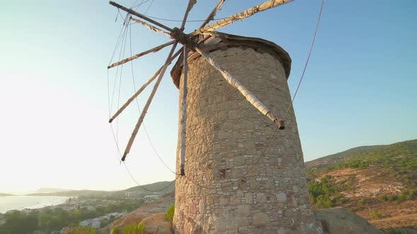Old Traditional Historic Stone Windmill
