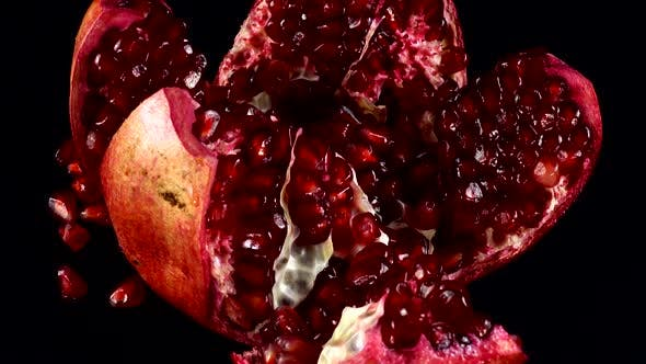 Cover Image for Pomegranate on a Black Background
